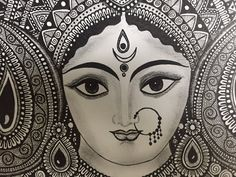 Hindu Goddess Durga Home Decor art print by RashmiArtShop on Etsy #durga #rashmiart #Indianart