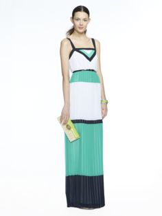 Refinery29 Shops: Banana Republic Milly Collection Colorblock Pleated Patio Dress - Banana Republic Milly Collection - Boutiques