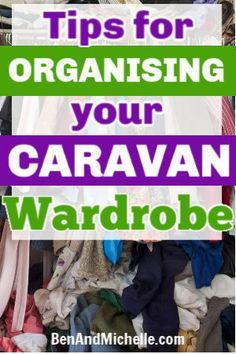 When you have such limited closet space in your caravan, it's important to organise the space in the best way. With these simple caravan wardrobe storage solutions you'll have your clothes and shoes sorted out and easy to get to. #caravanlife #caravanaustralia