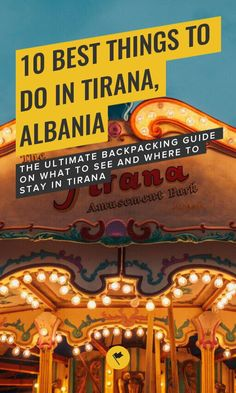 10 Best Things to Do in Tirana, Albania - The Ultimate Backpacking Guide on What to See and Where to Stay in Tirana European Vacation, European Destination, European Travel, Europe Travel Guide, Travel Guides, Travel Destinations, Albania Travel, Tirana Albania, Roadtrip
