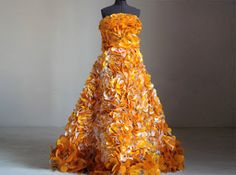 Dress made of M wrappers  #chicunderground #eco #sustainable #fashion #show #dress #recycling #vegan #candy