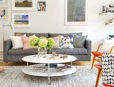 Living Room in a Colorful Scandinavian Apartment