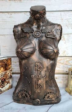 Steampunk Mannequin - Unique Creations By Anita Diy Crafts For Gifts, Handmade Crafts, Thrifting, Steampunk, Statue, Unique, Inspiration, Vintage, Art