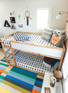 Modern Colorful Boy's Room Reveal with Beddy's, Boho Boys Room Design, Big boys room design reveal, Beddy's bedding is the perfection solution for bunk beds Shared Boys Rooms, Shared Bedrooms, Baby Boy Rooms, Kids Rooms, Beddys Bedding, Bedroom Furniture, Bedroom Decor, Rustic Furniture, Bedroom Ideas