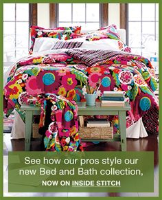 Va Va Bloom bedding! The perfect amount of whimsical for your daughter's bedroom.