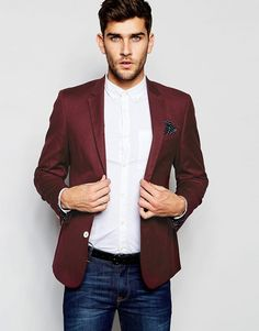 ASOS   ASOS Skinny Blazer In Cotton