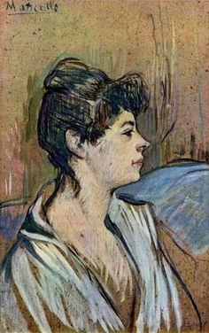 Henri de Toulouse-Lautrec - Portrait de Jane Avril -