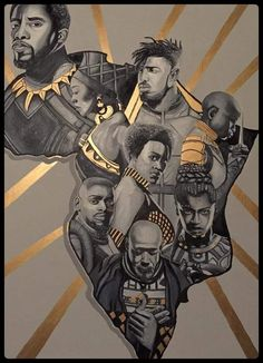 Loving the skin I'm in Black Panther 2018, Black Panther Marvel, Black Love Art, My Black Is Beautiful, African American Art, African Art, Wakanda Marvel, Black Panther Chadwick Boseman, Panther Pictures