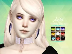 Aveira's Sims 4,   Vampire Eyes #2 Vampires only 9 Colors 2 Options:...