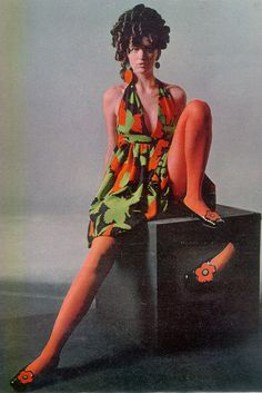 Donald Brooks dress 1967 - Don't mind me, im just casually sitting here, looking great in my matchy matchy outfit