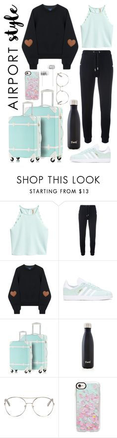 """Minty Travels"" by pokeygirlllll on Polyvore featuring Zoe Karssen, adidas Originals, S'well, Chloé, Casetify and Beats by Dr. Dre"
