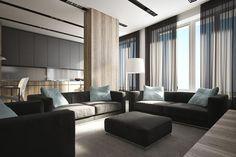 Фото — Linearity — Design of apartments #living room