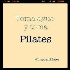 "@inspirahpilates's photo: ""Toma agua y toma #Pilates :)"""