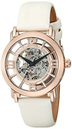 Women's Wrist Watches - Stuhrling Original Womens 156124W14 Winchester Automatic Skeleton Rose Watch * More info could be found at the image url. (This is an Amazon affiliate link)