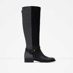 ZARA - WOMAN - COMBINED HIGH BOOTS