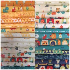 Happy Camper fabric by Allison Cole!! This collection makes us want to go camping #allisoncole #camelotfabrics #happycamper #fabric #fabriccollection #newcollection #camping
