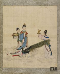Three women and a peacock | 19th century | Muzeum Sztuki w Łodzi | Public Domain