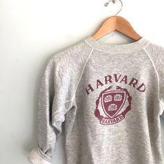 70s vintage Harvard champion sweatshirt by louiseandco on Etsy