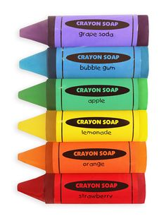 Crayon Soap in colors of the rainbow