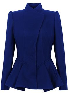 >>>Cheap Sale OFF! >>>Visit>> Words cannot describe my feelings for this blazer. Ted Baker Wrenn wool peplum jacket Blue - House of Fraser. Hijab Stile, Modelos Plus Size, Peplum Jacket, Peplum Blazer, Blazer Jacket, Hijab Fashion, Passion For Fashion, Ideias Fashion, Winter Fashion