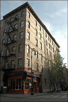 Exterior shots of the apartment building featured in Friends were taken of this building which is located on the corner of Grove and Bedford in Greenwich Village.