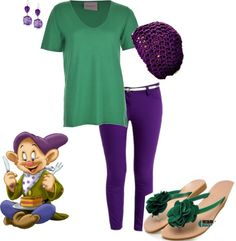 Disneyland Outfit - Dopey, created by teeg70 on Polyvore