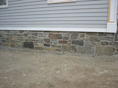 Summer 2014 goal >> stone veneer for concrete areas on house