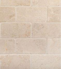 Honed Cream Marfil Marble Tumbled Subway tile – would make a beautiful backsplash | Pin 4 Reno
