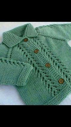 Ideas Crochet Cardigan Boy Jacket Pattern For 2019 Baby Cardigan Knitting Pattern Free, Baby Sweater Patterns, Knitted Baby Cardigan, Knit Baby Sweaters, Baby Knitting Patterns, Knitting Designs, Baby Patterns, Blanket Patterns, Diy Crafts Knitting