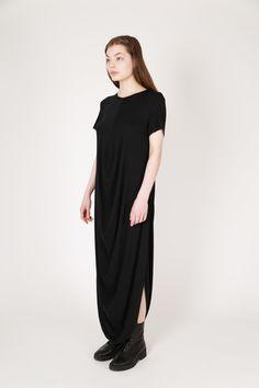 Draped T-Shirt Dress | LUMITUS