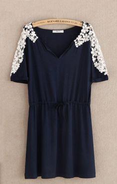 flower sleeve dress