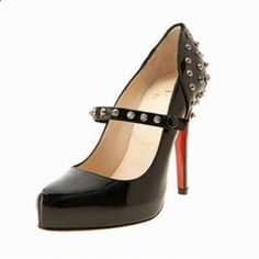 Christian Louboutin Mad Black Mary Janes Leather Pumps