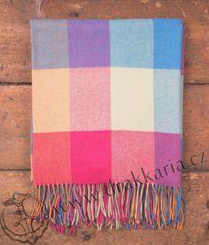 Brights Large Check, luxusní vlněná deka, Irsko