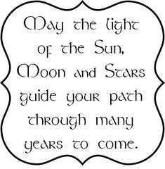 Pagan Birthday Blessing   has the pagan birthday blessing verse inside the bracket frame