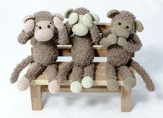 Haakpatroon aap alex #haken #haakpatroon #amigurimi #gehaakt #knuffel #crochet #crocheting #crochetpattern #aap