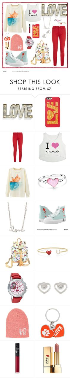 """""""59: Love"""" by alinepelle ❤ liked on Polyvore featuring Creative Co-op, Keds, Love Moschino, Bling Jewelry, Sydney Evan, Dooney & Bourke, Alison Lou, Zenith, Marc by Marc Jacobs and Neff"""