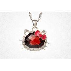 Hello Kitty Garnet Stone necklace