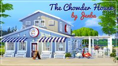 The Chowder House is based on a seafood restaurant/bar that I built in The Sims 3. Awhile ago an anonymous person requested that I build a version of it for The Sims 4, so here we are! Your Sims can't...