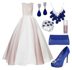 """Blue & Pink Princess 2015"" by diamondanna ❤ liked on Polyvore featuring moda, J. Mendel, Esme Vie, GUESS, Fendi, Effy Jewelry, Ten Thousand Things e Maybelline"