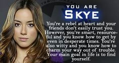 Marvel's Agents of S.H.I.E.L.D. - Personality Quiz; skye