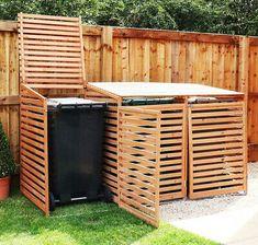 Triple Wheelie Bin Storage Wooden Store Outdoor Garden Cupboard Dustbin 2 Shed UK Bin Storage Ideas Wheelie, Triple Wheelie Bin Storage, Garbage Storage, Shed Storage, Storage Bins, Recycling Bin Storage, Garbage Shed, Outdoor Storage Bin, Patio Storage
