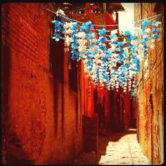 The streets of San Miguel De Allende, Mexico. Life is a celebration!