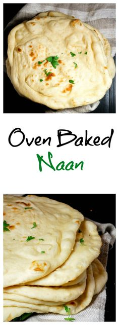 Naan is an Indian bread made with yeast. It can be made in the oven or in a pan. Perfect for scooping up your favorite curry!Naan is an Indian bread made with yeast. It can be made in the oven or in a pan. Perfect for scooping up your favorite curry! Indian Food Recipes, Asian Recipes, Vegetarian Recipes, Healthy Recipes, Bread Recipes, Cooking Recipes, Garlic Recipes, Curry Recipes, Good Food