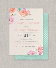 Items similar to Watercolor Flowers Shower Invitation on Etsy Bridal Shower, Baby Shower, Flower Shower, Watercolor Flowers, Shower Invitations, Handmade Gifts, Etsy, Shower Party, Handcrafted Gifts