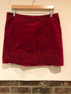 88ed7924f White Stuff Ladies Lovely Red Skirt With Side Pockets Size 14 Excellent  Conditio #fashion #