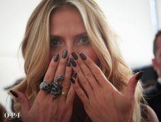 Heidi Klum wearing OPI Pure Nail Apps!