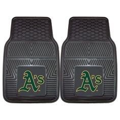 "MLB Oakland Athletics 2pc Vinyl Car Mats 17""x27"""