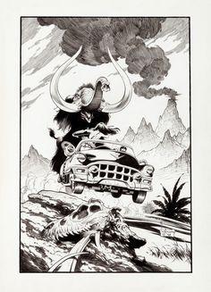 Scenes From the Xenozoic Age - Portfolio Illustration by Mark Schultz 1994