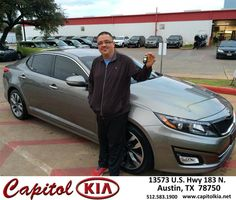 Congratulations to Hugo Vargas on your #Kia #Optima purchase from Brian Dean at Capitol Kia! #NewCar