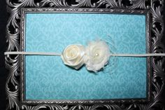 SMALL Ivory Shabby Chiffon Flower & Rolled by TheBloomingBowtique, $10.00